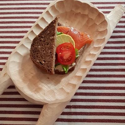 Fínsky chlieb, losos
